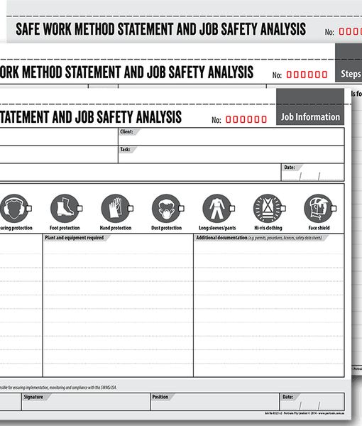 Safe Work Method Statement Template Workcover Images - Template - jsa form template