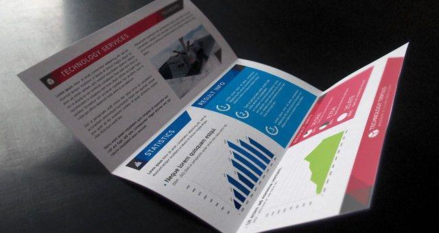 Technology Tri Fold Brochure | Brochure Templates | Pixeden