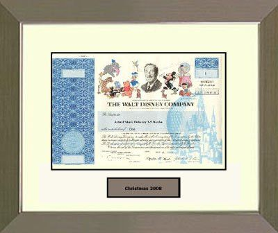 10 Best Images of Disney Stock Certificates Printable - walt ...