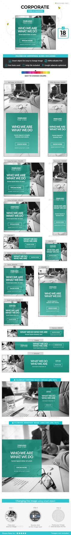 Multipurpose Web Banners. 21 awesome quality banner template PSD ...