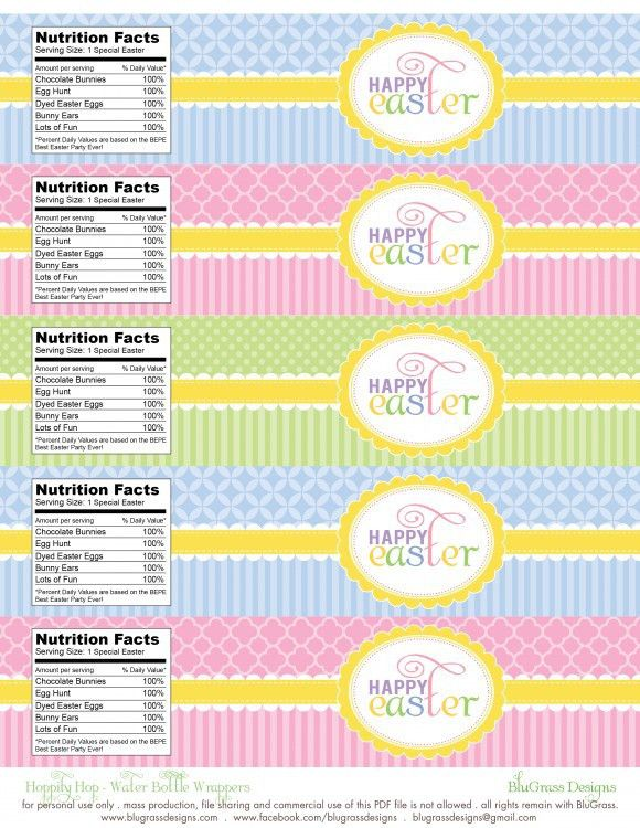 FREE Easter Party Printables from BluGrass Designs | Easter party ...