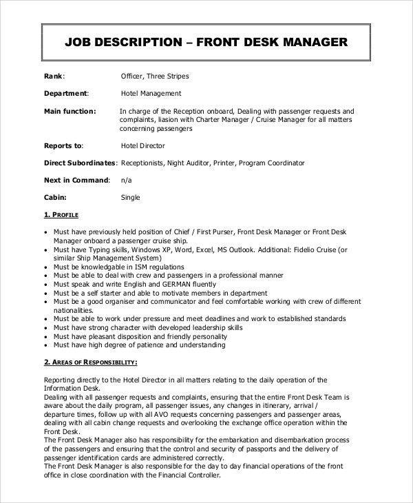 Supervisor Job Description. Retail Supervisor Job Description With ...