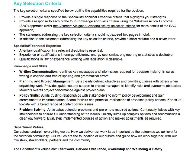 Answering selection criteria 101   Successful Graduate