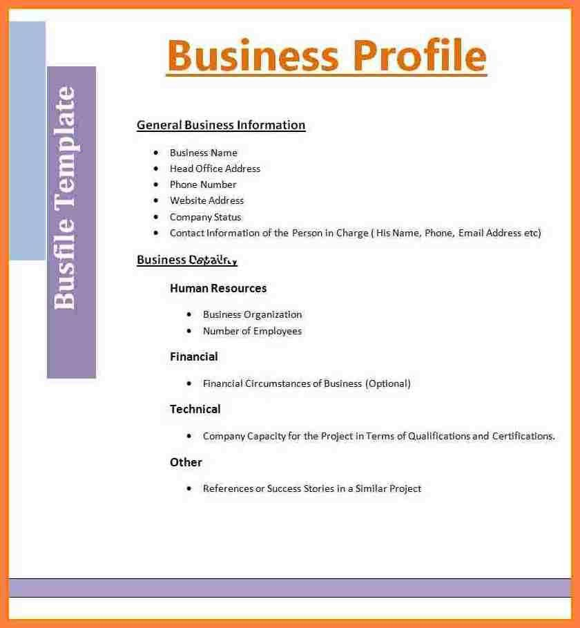 6+ example of company profile template | Company Letterhead
