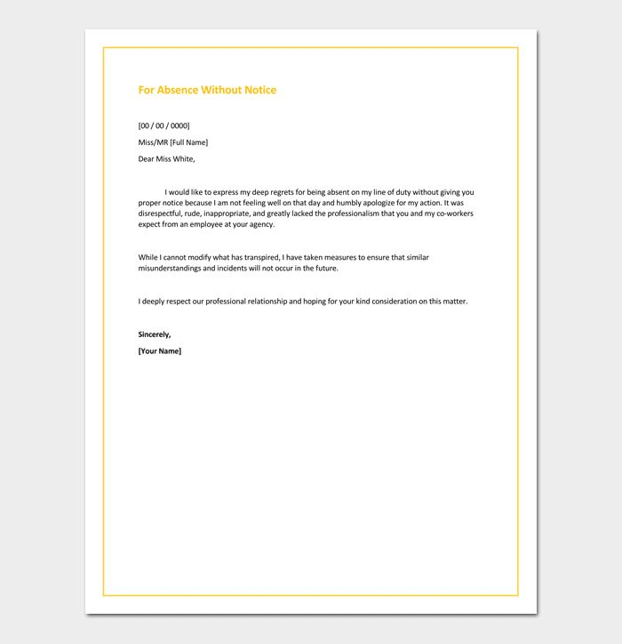 Apology Letter Template - 33+ Samples, Examples & Formats