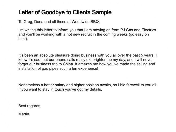 33 38 farewell email to coworkers sample. employee goodbye letter ...