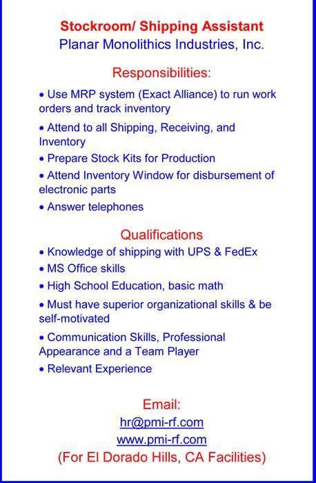 Planar Monolithics Industries - Employment Opportunities