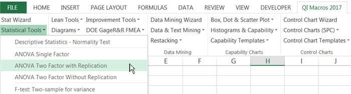 Two Way ANOVA in Excel | Two Factor ANOVA with Replication | QI Macros