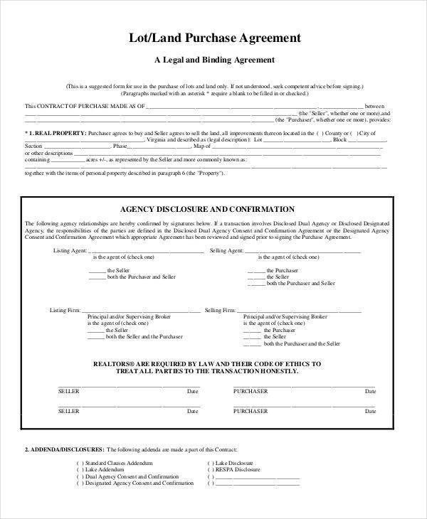 9 Land Contract Templates - Free Sample, Example, Format Download