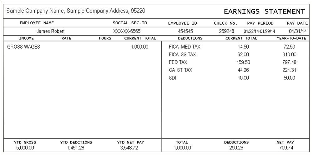 Free Paystub Template | Template Idea