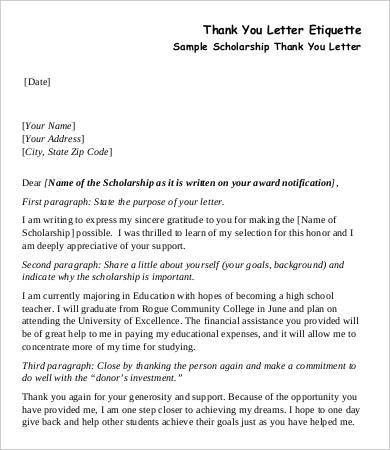 Teacher Thank You Letter - 8+ Free Sample, Example, Format | Free ...