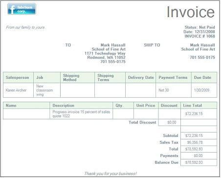 Service Invoice Samples Word Templates Free Office Templates ...
