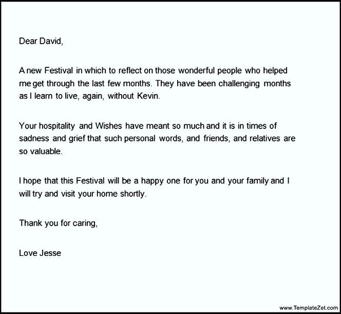 thank you letter for condolences | Docoments Ojazlink