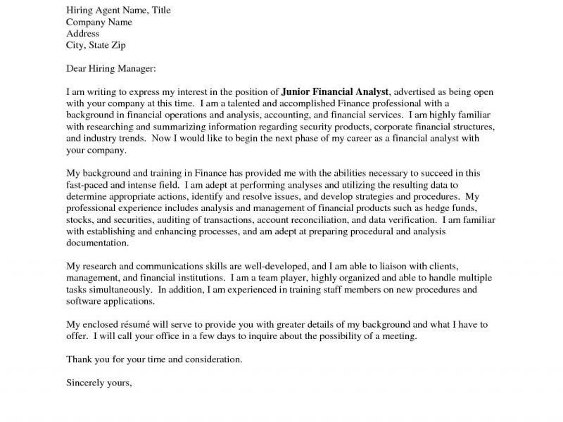 Download Cover Letter Examples Finance   haadyaooverbayresort.com