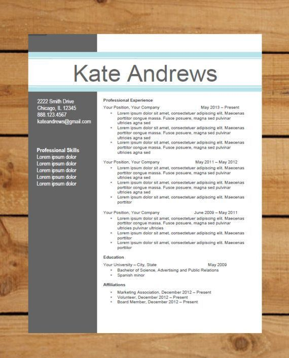 165 best Resume Templates images on Pinterest | Resume ideas ...