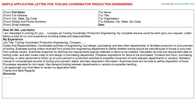 Tooling Coordinator Production Engineering Job Title Docs