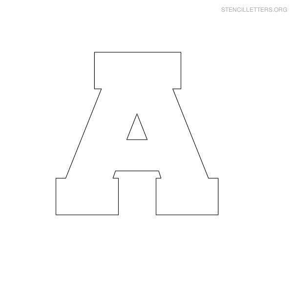 Free Printable Block Letter Stencils | Stencil Letters A Printable ...