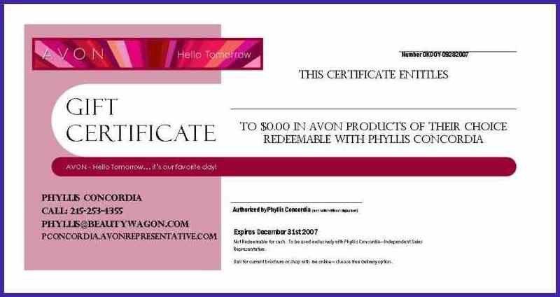 GIFT CERTIFICATE WORDING | letterproposaltemplate.com