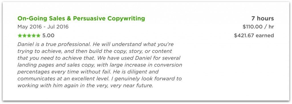 He left a 6-figure engineering job to do copywriting on Upwork