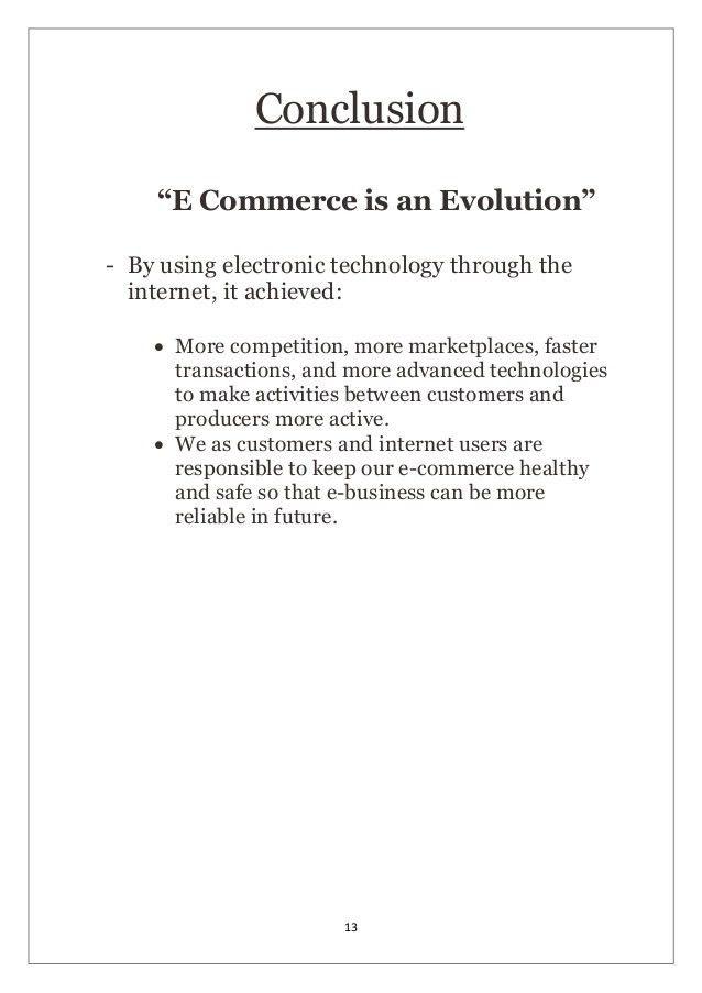 E commerce project report