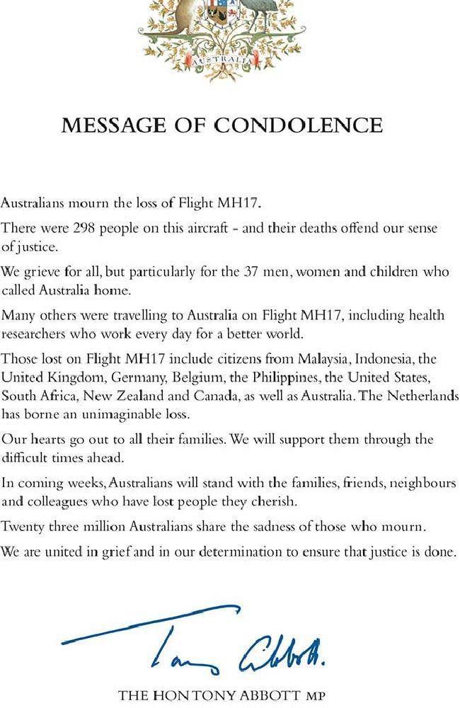 Formal Condolence Letter - Resume Templates