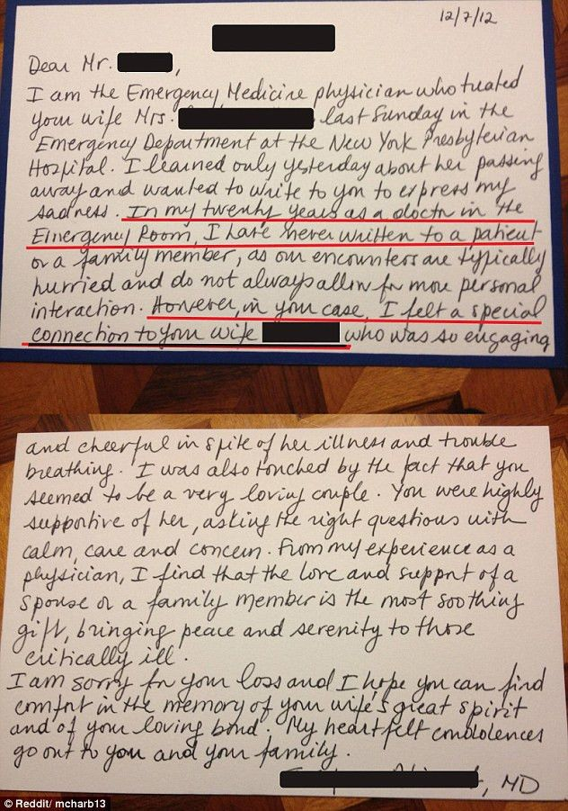 Man receives touching letter from emergency room doctor in the ...