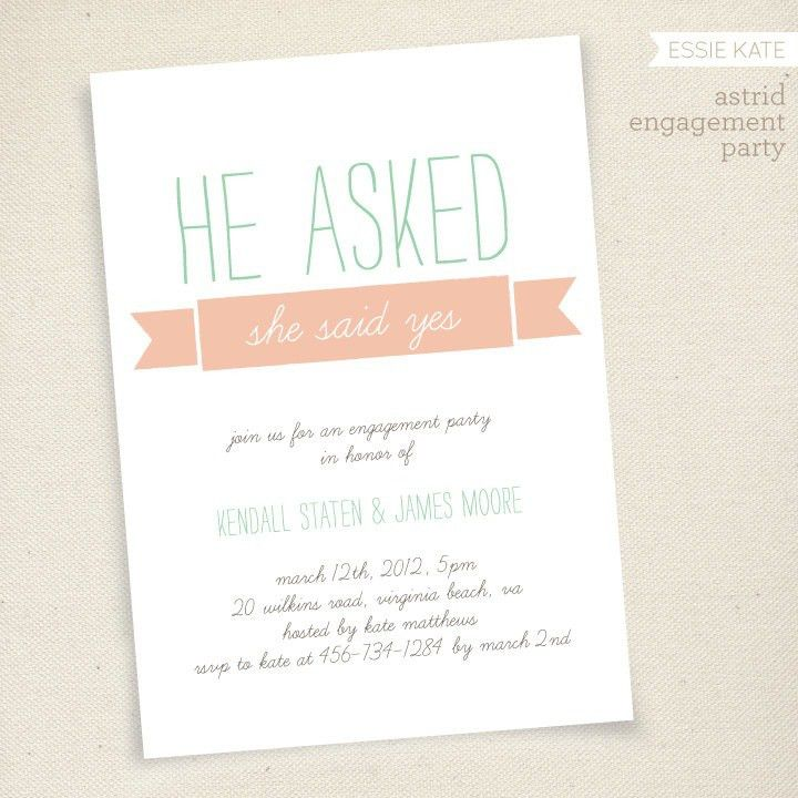 Free Printable Engagement Party Invitations | christmanista.com