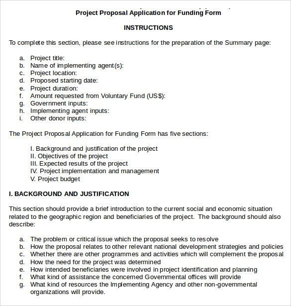 Project Proposal For Funding. University Project Proposal Model ...