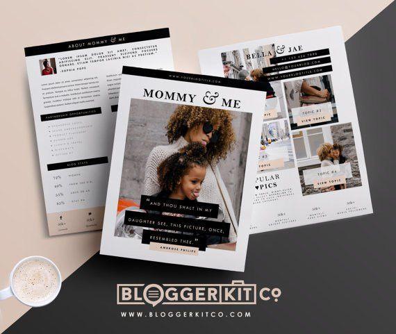 Three-Page Media Kit Template Press Kit Template by BloggerKitCo ...