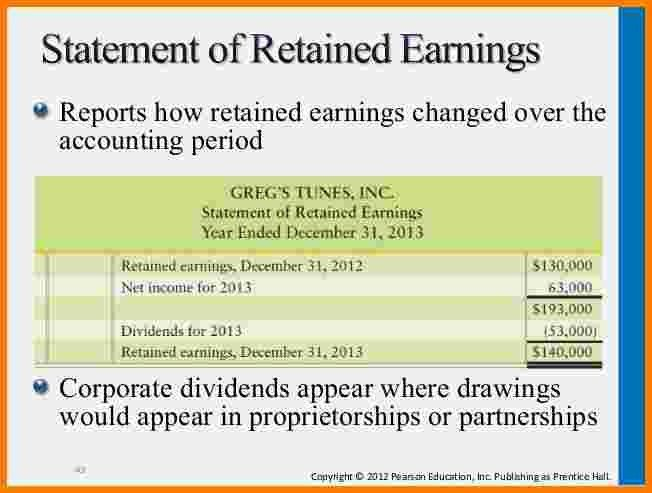 7+ statement for retained earnings | Case Statement 2017