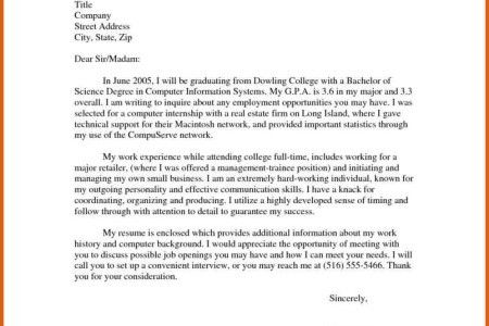 best way to start a cover letter