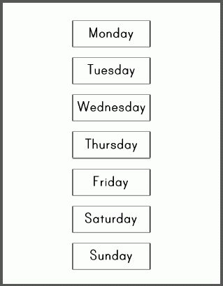 11+ days of the week calendar | Letter Template Word