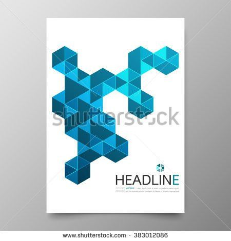 Business Annual Report Cover Template Designgeometric Stock Vector ...