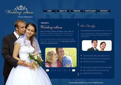 Attractive wedding templates for wedding websites