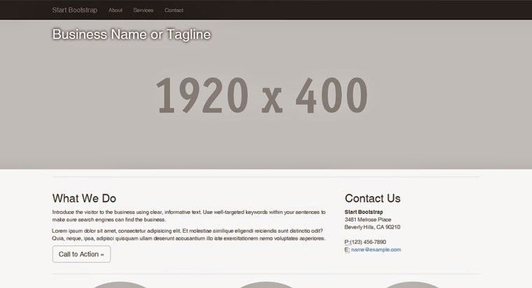 Business Frontpage | BootstrapThemes - Free Bootstrap Themes ...