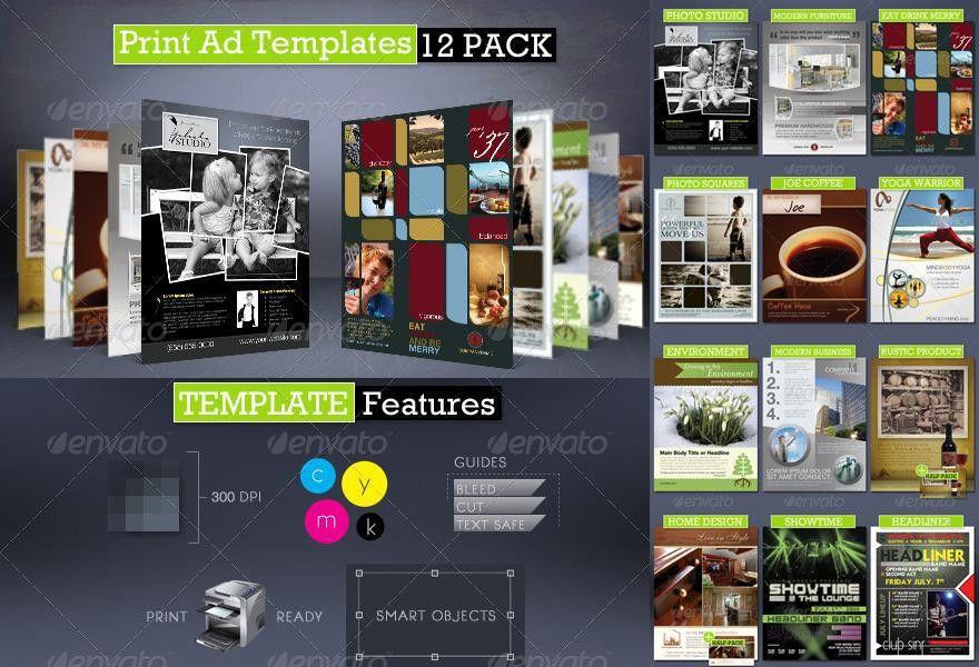 Print Ad Templates 12 Pack ‹ PsdBucket.com