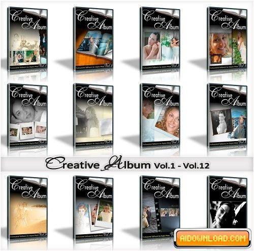 Creative Album Templates, Wedding 12 Series FULL! | Free Graphic ...