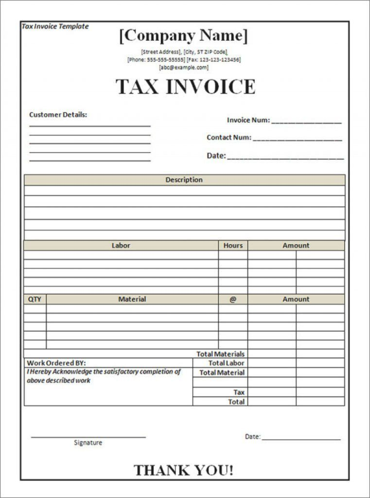 Download Blank Tax Invoice Template Australia | rabitah.net