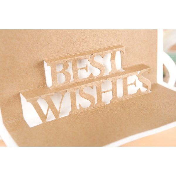Tattered Lace Pop Up Mega Words Die - Best Wishes (373501 ...