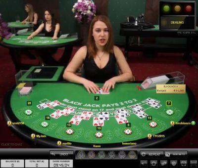 Live Dealer Online Blackjack - Online Blackjack