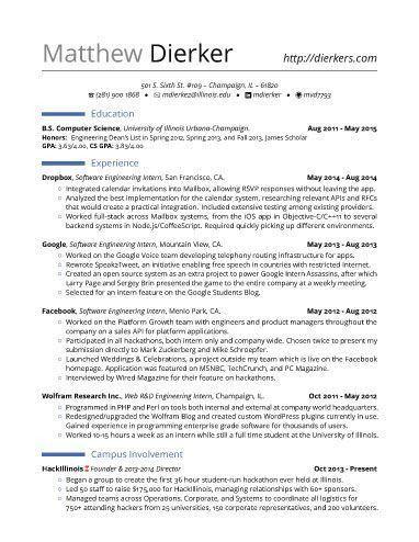 resume sample for internship career center internship resume