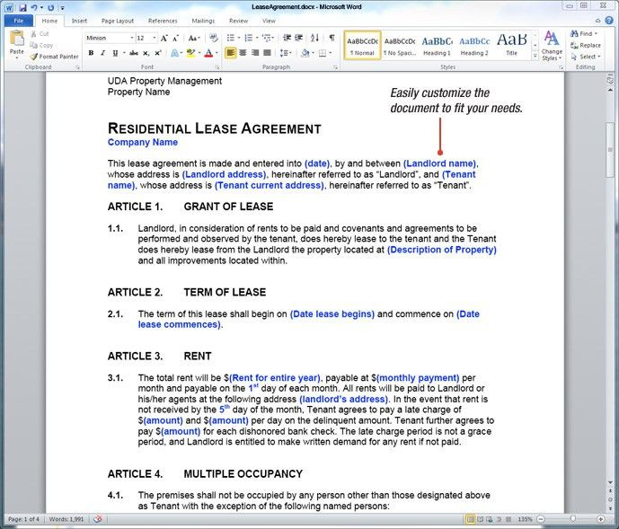 UDA ConstructionDocs - Property Management Forms, Lease Agreements ...