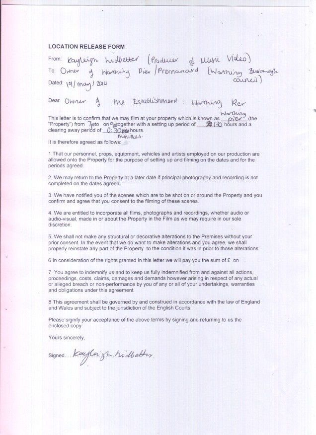 Music Release Form. Clearance Request Form For Music Film ...