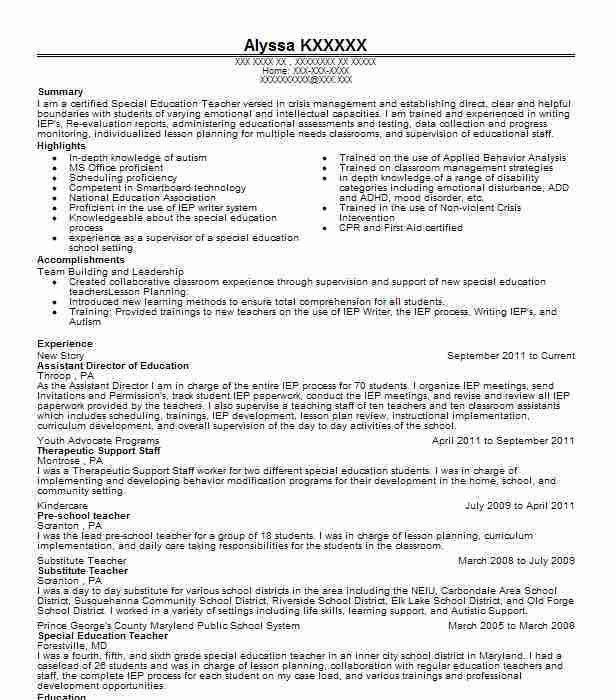 Best Education Assistant Director Resume Example | LiveCareer