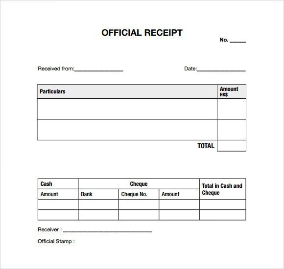 7+ General Receipt Templates - Free Samples , Examples , Format