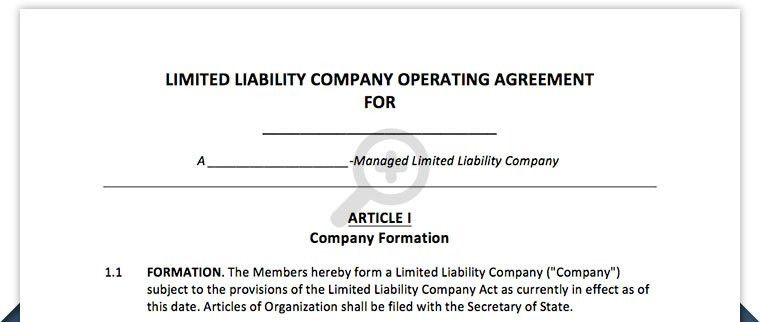 10 Best Images of LLC Partnership Operating Agreement Template ...