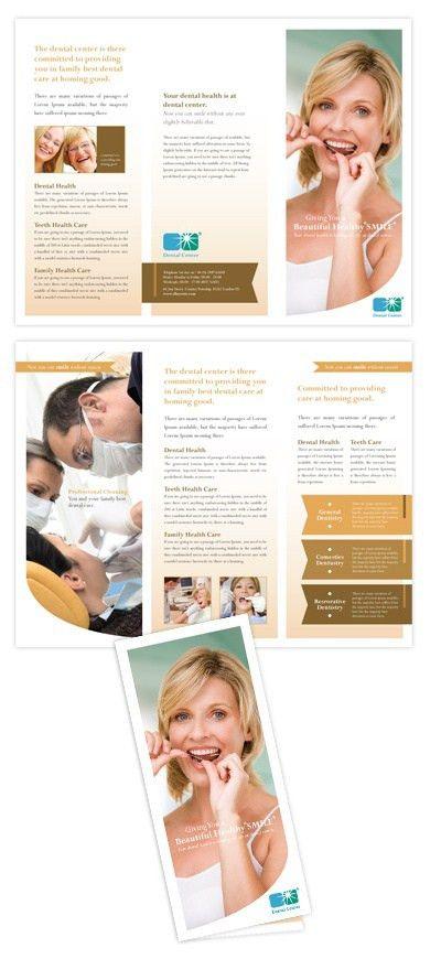 Diabetes Brochure Template. Set Of Dental Problem Medical Icons ...