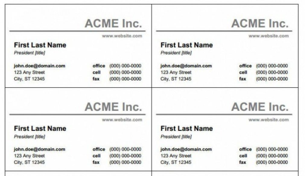 Superior Blank Business Card Template For Word FR7I2 – Dayanayfreddy