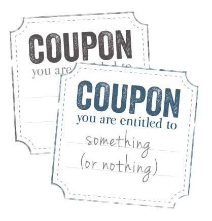Corner Cut Printable Blank Coupon | Free Printables Online