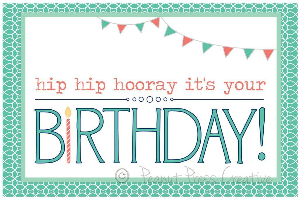 Card Invitation Design Ideas: Printable Happy Birthday Card Modern ...